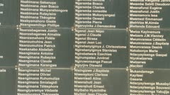 Stock Video Footage of Genocide victim names in Rwanda, Africa