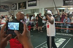 Mayweather training for the Mayweather vs. Cotto fight - pt. 01 Stock Footage