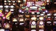 Las Vegas casino slot machines P HD 9840 Stock Footage