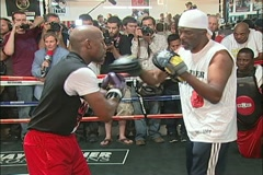 Mayweather training for the Mayweather vs. Cotto fight - pt. 04 Stock Footage