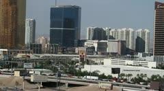 Las Vegas freeway traffic casino resorts P HD 9744 Stock Footage