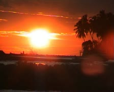 sunset paradisiac dominican republic - stock footage