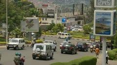 Busy street in downtown Kigali, Rwanda Stock Footage
