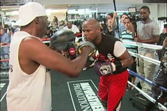 Mayweather training for the Mayweather vs. Cotto fight - pt. 05 Stock Footage