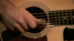 Playing on the Guitar 6 Stock Footage