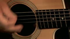 Playing on the Guitar 8 Stock Footage
