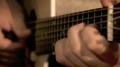 Playing on the Guitar 9 Stock Footage