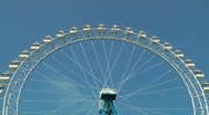 Stock Video Footage of Timelapse view of the ferris wheel on blue sky background, HD