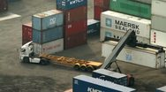 Container Terminal 001 Stock Footage