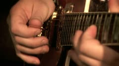 Playing on the Guitar 12 Stock Footage