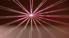 Closeup of a lasershow Stock Footage