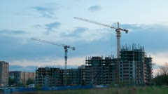 construction site timelapse - stock footage