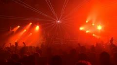 Disco Light Show Stock Footage