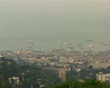 Overlooking Cannes shot2 - stock footage