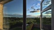 European Countryside Timelapse through Window HDR Video GFTHD Stock Footage