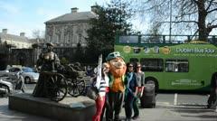 Molly Malone Dublin Stock Footage