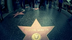Hollywood Stars timelapse Stock Footage