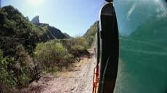 Mexico train ride copper canyon sierra madre Stock Footage