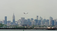 Delta Airline Airplane leaving nyc take off LaGuardia New York City Stock Footage