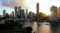Brisbane city skyline, Queensland, Australia Stock Footage