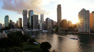 Brisbane city skyline, Queensland, Australia Stock Footage
