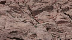 Red Rock Park Calico Mountain pan P HD 9881 - stock footage