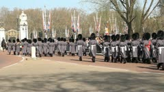 Changing of the guards. Two shots. Wide. Stock Footage