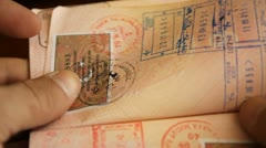 Passport. Passport control at the customs Stock Footage