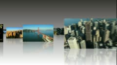 Montage 3D Images American Continent, USA - stock footage