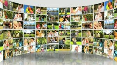 Montage 3D images of Caucasian Family  Lifestyle - stock footage