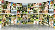 Montage 3D images of Caucasian Family  Lifestyle Stock Footage