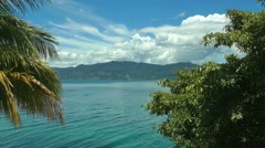 Timelapse view of Lake Toba in Sumatra, Indonesia, Southeast Asia. HD - stock footage