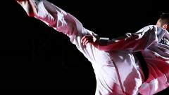 taekwondo kicks - stock footage