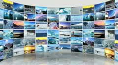 Montage 3D Images From the Polar Regions - stock footage