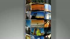 Montage 3D Images Fossil Fuel Produced Energy  - stock footage