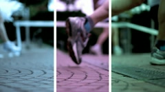 Split Runner Stock Footage