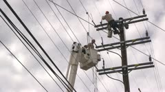 Powerline maintenance Stock Footage