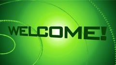 Welcome multi-language Animation Green Stock Footage