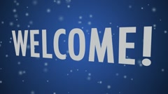 Welcome Blue Stock Footage