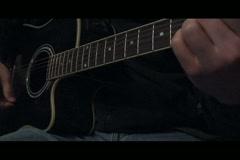 Guitar Strumming - stock footage