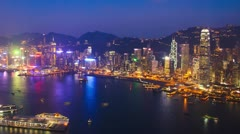 Hong Kong architecture. Timelapse - stock footage