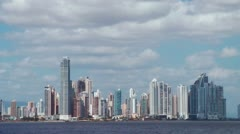 Panama City Skyline Time Lapse - stock footage