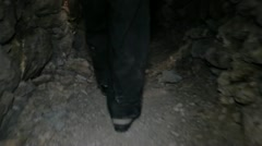 Feet in the mine Stock Footage