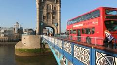 Tower Bridge Bus. Stock Footage