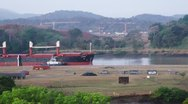 Stock Video Footage of Ship In The Panama Canal