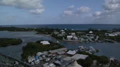 Beautiful Hope Town Harbour in the Bahamas Stock Footage