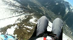 Paragliding in the high Alps, Stock Footage