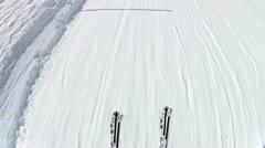 Crosscountry skiing in winter - stock footage