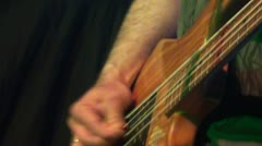 Bassist plays at a live concert Stock Footage