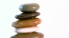 track onto a pile of zen stones - stock footage